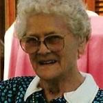 Gerda ved hendes 80 års fødselsdag, 1996.